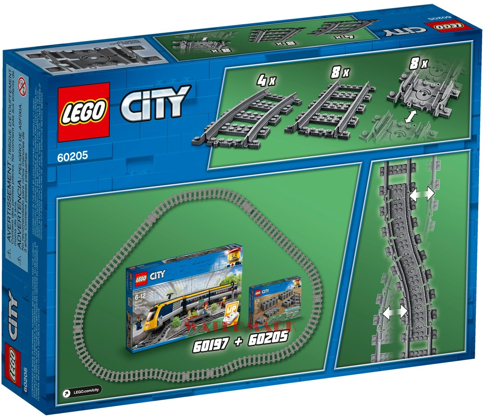 Lego City 60205 Tory Do Kolejek 60197 I 60198